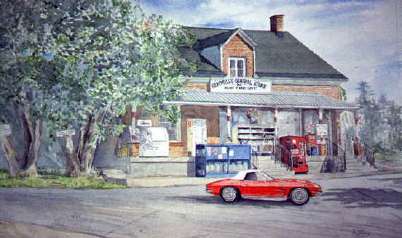 1963 Corvette at Gemmill's General Store