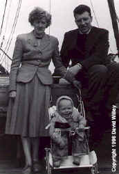 The Willey clan on the Empress of Scotland, May 1956